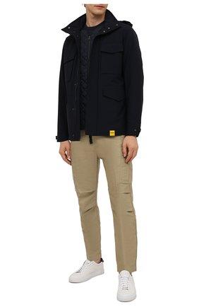 Мужская утепленная куртка ASPESI темно-синего цвета, арт. W1 I 1I22 L594 | Фото 2 (Материал внешний: Синтетический материал; Рукава: Длинные; Материал подклада: Синтетический материал; Кросс-КТ: Куртка; Мужское Кросс-КТ: утепленные куртки; Стили: Кэжуэл; Длина (верхняя одежда): До середины бедра)