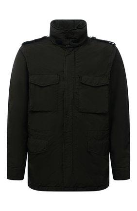 Мужская утепленная куртка ASPESI хаки цвета, арт. W1 I 1I28 1024 | Фото 1 (Кросс-КТ: Куртка; Мужское Кросс-КТ: утепленные куртки; Длина (верхняя одежда): До середины бедра; Материал внешний: Синтетический материал; Стили: Кэжуэл)