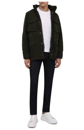 Мужская утепленная куртка ASPESI хаки цвета, арт. W1 I 1I28 1024 | Фото 2 (Кросс-КТ: Куртка; Мужское Кросс-КТ: утепленные куртки; Длина (верхняя одежда): До середины бедра; Материал внешний: Синтетический материал; Стили: Кэжуэл)