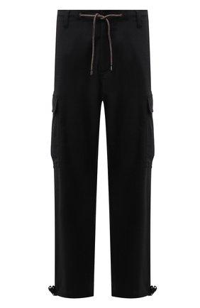 Мужские брюки-карго ASPESI темно-серого цвета, арт. W1 A CP10 L656 | Фото 1 (Материал внешний: Шерсть, Синтетический материал; Длина (брюки, джинсы): Стандартные; Случай: Повседневный; Силуэт М (брюки): Карго; Стили: Гранж)