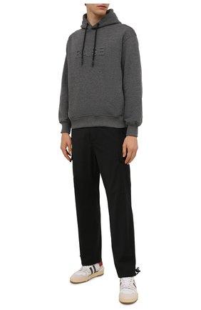 Мужские брюки-карго ASPESI темно-серого цвета, арт. W1 A CP10 L656 | Фото 2 (Материал внешний: Шерсть, Синтетический материал; Длина (брюки, джинсы): Стандартные; Случай: Повседневный; Силуэт М (брюки): Карго; Стили: Гранж)
