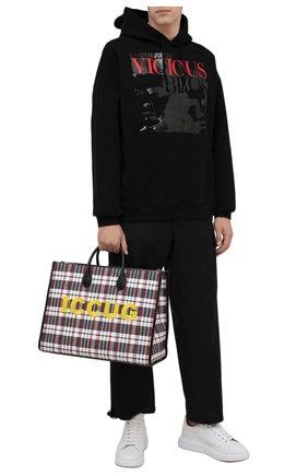 Мужская текстильная сумка-тоут iccug GUCCI разноцветного цвета, арт. 659980/2S6AN | Фото 2 (Материал: Текстиль)