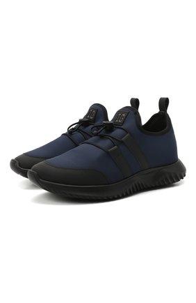Детские кроссовки IL GUFO синего цвета, арт. G872/CARLIT0/31-34 | Фото 1 (Материал внутренний: Натуральная кожа; Материал внешний: Текстиль)