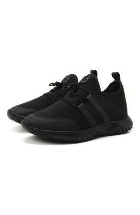 Детские кроссовки IL GUFO черного цвета, арт. G872/CARLIT0/31-34 | Фото 1 (Материал внешний: Текстиль; Материал внутренний: Натуральная кожа)