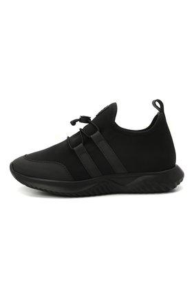 Детские кроссовки IL GUFO черного цвета, арт. G872/CARLIT0/31-34 | Фото 2 (Материал внешний: Текстиль; Материал внутренний: Натуральная кожа)