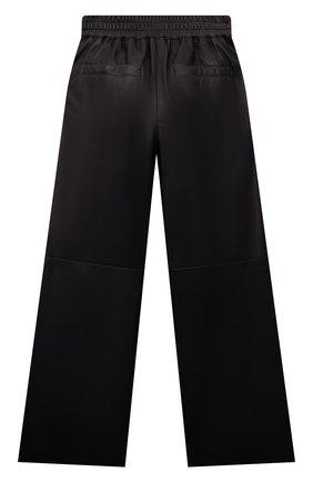 Детские кожаные брюки BRUNELLO CUCINELLI черного цвета, арт. BPTANP044B | Фото 2 (Материал подклада: Синтетический материал; Девочки Кросс-КТ: Брюки-одежда; Ростовка одежда: 10 - 11 лет | 140 - 146см, 8 лет | 128 см)