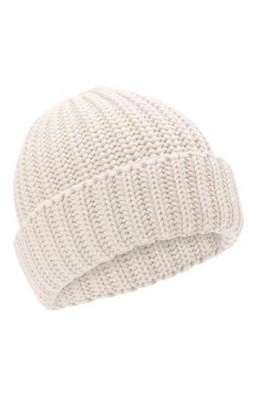 Детского шерстяная шапка IL TRENINO белого цвета, арт. 21 4057 | Фото 1 (Материал: Шерсть)