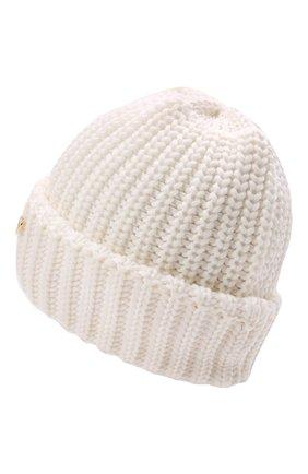 Детского шерстяная шапка IL TRENINO белого цвета, арт. 21 4057 | Фото 2 (Материал: Шерсть)