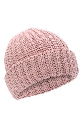 Детского шерстяная шапка IL TRENINO розового цвета, арт. 21 4057 | Фото 1 (Материал: Шерсть)