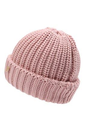 Детского шерстяная шапка IL TRENINO розового цвета, арт. 21 4057 | Фото 2 (Материал: Шерсть)