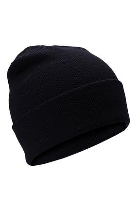 Детского шерстяная шапка IL TRENINO темно-синего цвета, арт. 21 4059/2L | Фото 1 (Материал: Шерсть)