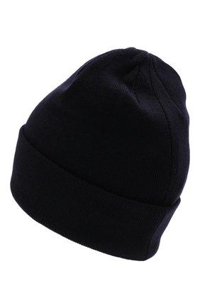 Детского шерстяная шапка IL TRENINO темно-синего цвета, арт. 21 4059/2L | Фото 2 (Материал: Шерсть)