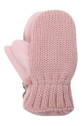 Детские шерстяные варежки IL TRENINO розового цвета, арт. 21 4062/18 | Фото 1 (Материал: Шерсть)