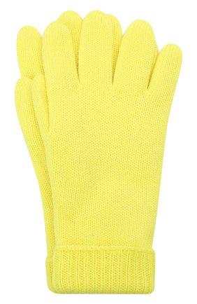 Детские шерстяные перчатки IL TRENINO желтого цвета, арт. 21 4063 | Фото 1 (Материал: Шерсть)