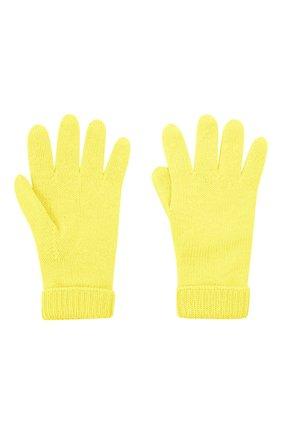 Детские шерстяные перчатки IL TRENINO желтого цвета, арт. 21 4063 | Фото 2 (Материал: Шерсть)