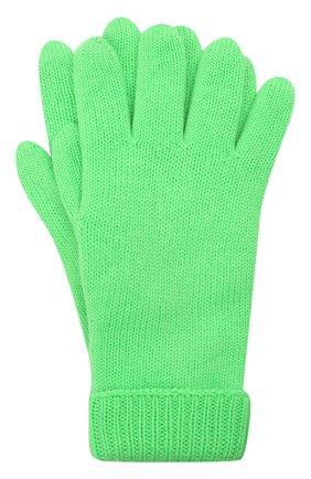 Детские шерстяные перчатки IL TRENINO салатового цвета, арт. 21 4063 | Фото 1 (Материал: Шерсть)
