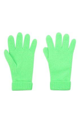Детские шерстяные перчатки IL TRENINO салатового цвета, арт. 21 4063 | Фото 2 (Материал: Шерсть)