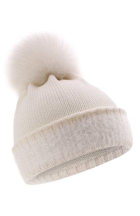 Детского шерстяная шапка IL TRENINO белого цвета, арт. 21 5745/AY | Фото 1 (Материал: Шерсть)