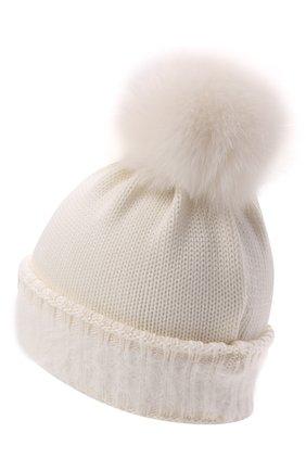 Детского шерстяная шапка IL TRENINO белого цвета, арт. 21 5745/AY | Фото 2 (Материал: Шерсть)