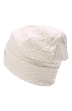 Детского шерстяная шапка IL TRENINO белого цвета, арт. 21 5747 | Фото 2 (Материал: Шерсть)