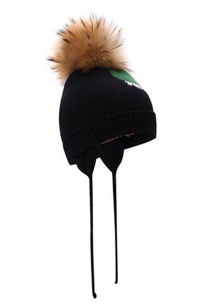 Детского шерстяная шапка IL TRENINO разноцветного цвета, арт. 21 5853/03 | Фото 1 (Материал: Шерсть)