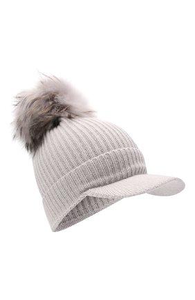 Детского шерстяная шапка IL TRENINO светло-серого цвета, арт. 21 5904 | Фото 1 (Материал: Шерсть)