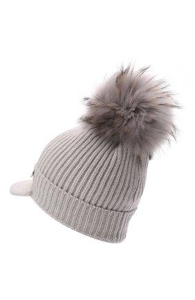 Детского шерстяная шапка IL TRENINO светло-серого цвета, арт. 21 5904 | Фото 2 (Материал: Шерсть)