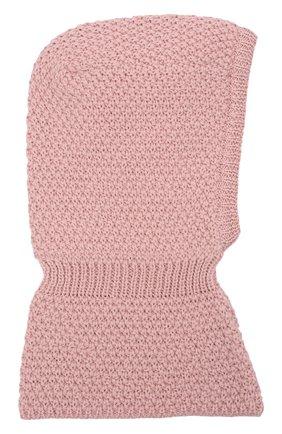 Детского шерстяная шапка-балаклава IL TRENINO розового цвета, арт. 19 5970 | Фото 2 (Материал: Шерсть)
