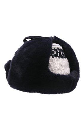 Детского шерстяная шапка-ушанка IL TRENINO темно-синего цвета, арт. 21 5611 | Фото 2 (Материал: Шерсть)