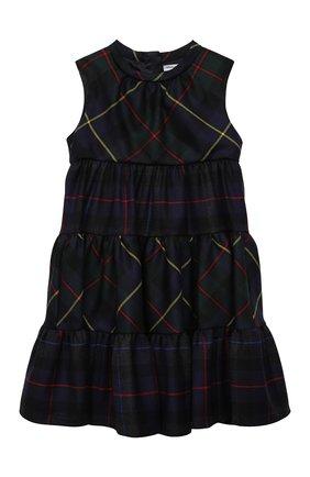 Детское шерстяное платье DOLCE & GABBANA разноцветного цвета, арт. L52DU6/G7ATY/2-6 | Фото 1 (Материал внешний: Шерсть; Рукава: Короткие; Материал подклада: Вискоза; Случай: Повседневный; Ростовка одежда: 2 года | 92 см, 3 года | 98 см, 4 года | 104 см, 5 лет | 110 см, 6 лет | 116 см)