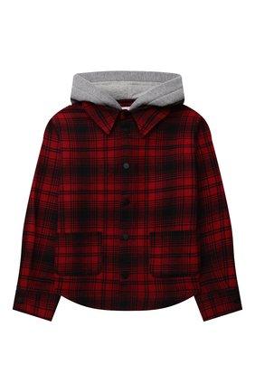 Детское хлопковая рубашка NATASHA ZINKO красного цвета, арт. FW21MNZ203-109/10-14 | Фото 1 (Материал внешний: Хлопок; Рукава: Длинные)