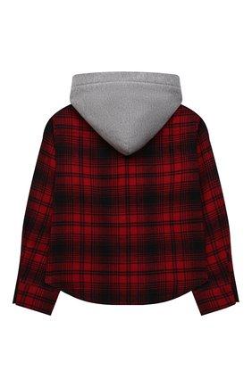 Детское хлопковая рубашка NATASHA ZINKO красного цвета, арт. FW21MNZ203-109/10-14 | Фото 2 (Материал внешний: Хлопок; Рукава: Длинные)