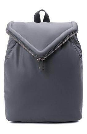 Мужской кожаный рюкзак BOTTEGA VENETA серого цвета, арт. 665631/VA9VD   Фото 1 (Материал: Натуральная кожа)