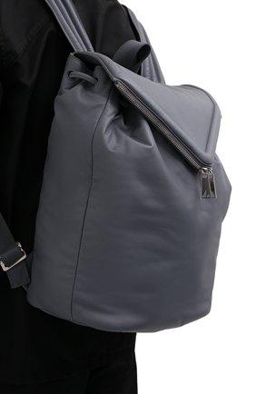 Мужской кожаный рюкзак BOTTEGA VENETA серого цвета, арт. 665631/VA9VD   Фото 2 (Материал: Натуральная кожа)