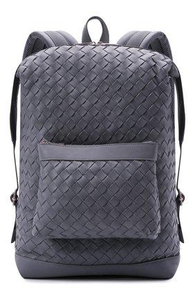 Мужской кожаный рюкзак BOTTEGA VENETA серого цвета, арт. 653118/V0E54   Фото 1 (Материал: Натуральная кожа)