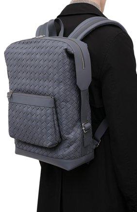 Мужской кожаный рюкзак BOTTEGA VENETA серого цвета, арт. 653118/V0E54   Фото 2 (Материал: Натуральная кожа)