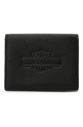 Мужской кожаное портмоне HARLEY-DAVIDSON черного цвета, арт. PM7739L-Black   Фото 2