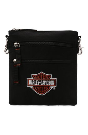 Мужская текстильная сумка HARLEY-DAVIDSON черного цвета, арт. XMP1505-OrgBlk   Фото 1 (Материал: Текстиль)