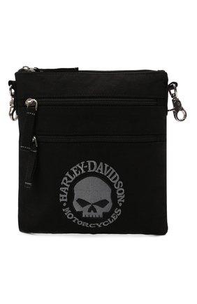 Мужская текстильная сумка HARLEY-DAVIDSON черного цвета, арт. XMP1517-GryBlk   Фото 1 (Материал: Текстиль)
