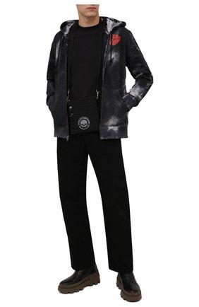Мужская текстильная сумка HARLEY-DAVIDSON черного цвета, арт. XMP1517-GryBlk   Фото 2 (Материал: Текстиль)