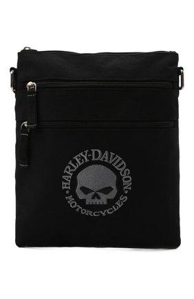 Мужская текстильная сумка HARLEY-DAVIDSON черного цвета, арт. XMP1521-GryBlk   Фото 1 (Материал: Текстиль)