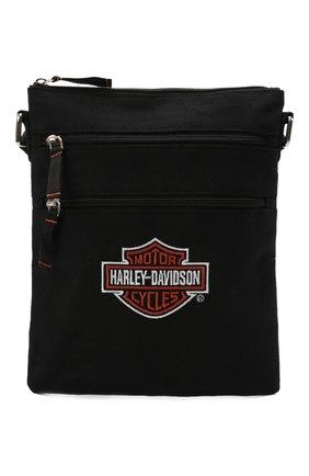 Мужская текстильная сумка HARLEY-DAVIDSON черного цвета, арт. XMP1548-OrgBlk   Фото 1 (Материал: Текстиль)