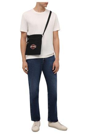 Мужская текстильная сумка HARLEY-DAVIDSON черного цвета, арт. XMP1548-OrgBlk   Фото 2 (Материал: Текстиль)