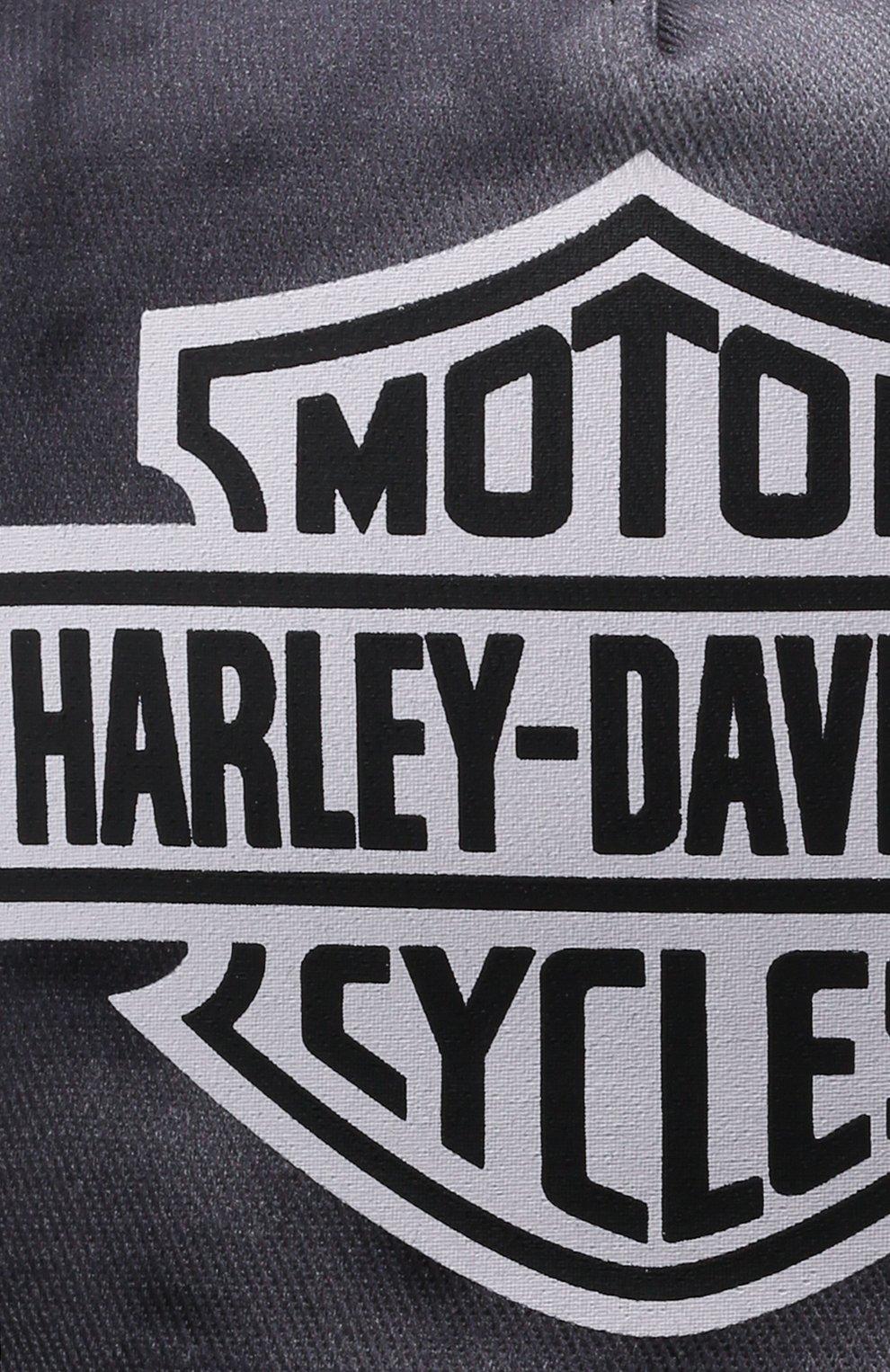 Мужской хлопковая бейсболка HARLEY-DAVIDSON серого цвета, арт. 97691-21VM   Фото 4 (Материал: Текстиль, Хлопок)
