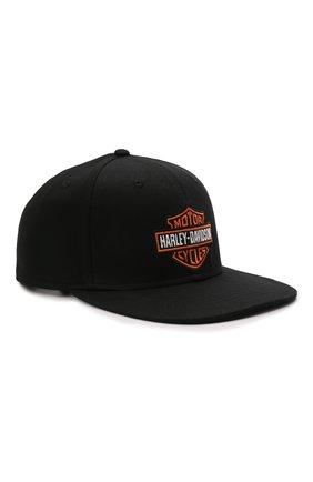 Мужской хлопковая бейсболка HARLEY-DAVIDSON черного цвета, арт. 97699-21VM   Фото 1 (Материал: Текстиль, Хлопок)