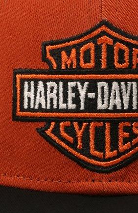Мужской хлопковая бейсболка HARLEY-DAVIDSON оранжевого цвета, арт. 97700-21VM | Фото 4 (Материал: Текстиль, Хлопок)