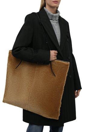 Женский сумка-тоут holster medium JIL SANDER светло-коричневого цвета, арт. JSPT852585-WTB69163 | Фото 2 (Материал: Натуральная кожа; Размер: medium; Сумки-технические: Сумки-шопперы)