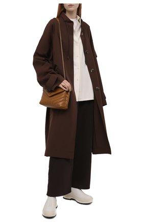 Женские кожаные ботинки JIL SANDER кремвого цвета, арт. JP37002A-14513 | Фото 2 (Каблук высота: Низкий; Подошва: Платформа; Материал внутренний: Натуральная кожа; Женское Кросс-КТ: Челси-ботинки)