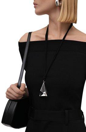 Женская подвеска на шнурке JIL SANDER черного цвета, арт. JSWT831168/WTS80054 | Фото 2 (Материал: Металл)