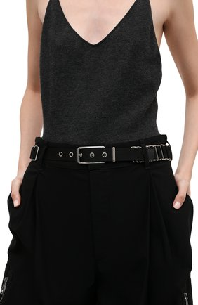Женский текстильный ремень BOTTEGA VENETA черного цвета, арт. 666679/V13N1 | Фото 2 (Материал: Текстиль)